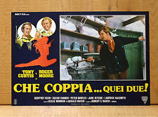 CHE COPPIA QUEI DUE fotobusta poster Roger Moore Tony Curtis Handcuffs Manette