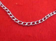 14 KT WHITE GOLD EP 18 INCH 5MM ITALIAN DESIGNER CURB LINK CHAIN NECKLACE