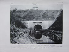 1918 WW1 WWI PRINT ~ SOUTHERN ENTRANCE ST QUENTIN CANAL TUNNEL BELLICOURT