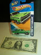 Hot Wheels '66 Green Ford 427 Ford Fairlane #2 - Muscle Mania - 2012