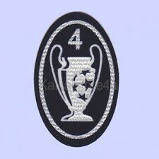 UEFA Champions League Trophy 4 Times Soccer Patch / Flock TATAMI Badge