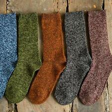 Fashion Men Cotton Socks #A Winter Thick Casual Dress Socks Mid-length One Size