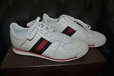 Gucci MIR SOFT/ MICRO Sneakers 233334 A9LA0 9051 Prem Leather sz G 9 (US 9.5/10)