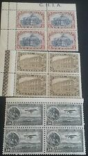Mexico lot of 13 new block OF 4 b4 1930s 1940s