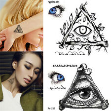 1 Sheet Waterproof Temporary Sticker Horrific Eye Decal False Transfer Tattoos
