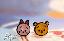 Disney pooh the winne piglet metal earring ear stud earrings 2PCS anime Studs ne