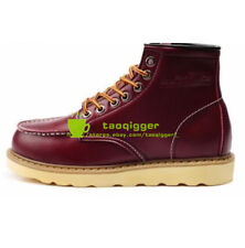 Mens High Top Wedge Sole Soft Toe Lace-up Work Military Ankle Boots Shoes Hot
