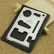 Emergency 11 in 1 Hunting Survival Military Credit Card Knife Multi Pocket Tools