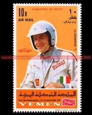 SCARFIOTTI Ludivico Pilote F1 YEMEN Timbre Poste Automobille 1969 Moto Stempel