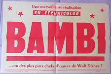 Bandeau Publicitaire BAMBI Walt Disney 1947