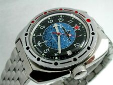 RUSSIAN  VOSTOK AUTO AMPHIBIAN  WATCH #710163b NEW