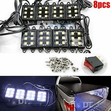 Universal White LEDs Lighting System Light Kit Pick-Up Truck Bed Rear Work Box