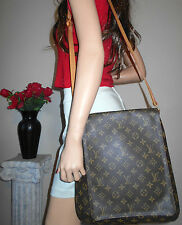 AUTHENTIC LOUIS VUITTON LV BROWN MONOGRAM LEATHER GM CROSSBODY SHOULDER BAG TOTE