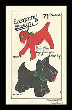Vintage 1940s Sewing Pattern Economy Design Terrier & Scottie Dog Toys WWII