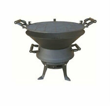 Rustic Cast Iron Outdoor Fire Pit Charcoal Camping Garden Patio Summer BBQ