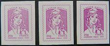 Les 3 nuances timbre adhésif de la Marianne lettre suivie 20g