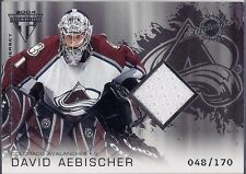 DAVID AEBISCHER 2003-04 Titanium SILVER Game Used JERSEY Card Ser #d /170