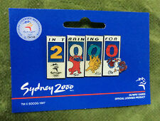 #D173.  SYDNEY 2000 IN TRAINING  OLYMPIC PIN SET OF 4