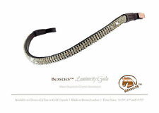Clear/Blk Luminocity Wave Crystal Dressage Bridle Browband Size:Oversize 17.75""