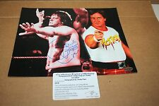 ROWDY RODDY PIPER SIGNED WWE/WWF 8X10 PHOTO HALL OF FAME COLLAGE POSE LEAF CERT