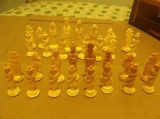 Genuine  Hand Crafted Chess Set Asian Chinese Inspired Playing Pieces,  vintage