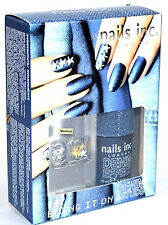 Nails Inc. Bling It On Denim & Studs Nail Kit - Great Gift Party Nail Polish