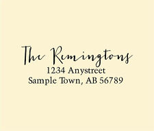 Personalized Custom Made Handle Mounted Rubber Stamp Return Address Wedding R223