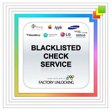 IPHONE CLEAN / BLACKLISTED / BLOCKED / BARRED STATUS INFORMATION CHECK WITHIN 1H