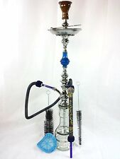"Authentic Km Hookah 36"" Shisha Khalil Maamoon Hookah Kahramana Single Blue Pear"