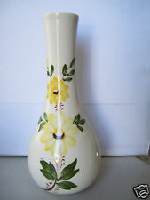 """FTDA Vase made by Sado-Portugal 8"""" tall Hand Painted Porcelain Bud Flowers"""