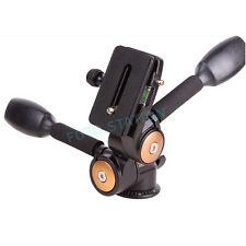 Pan Tilt Ball Head QR Plate For Camera Tripod Manfrotto Velbon Gitzo Universal