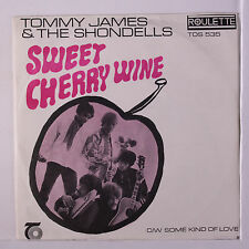 TOMMY JAMES & SHONDELLS: Sweet Cherry Wine / Some Kind Of Love 45 (South Africa