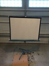 Da-Lite Flyer 40x30 Blue Portable Projection Screen Tripod Vintage Lknw