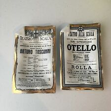 FORNASETTI MILANO VINTAGE PORCELAIN ASHTRAYS SET OF 2 OPERA OTHELLO TOSCANINI