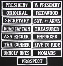 SON OF OUTLAW MC CLUB VICE PRESIDENT OFFICER TITLE BIKER 15 FRONT PATCH SET USA