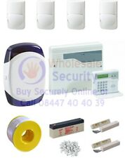 Wired Intruder Burglar Alarm System PROFESSIONAL Kit LCD Keypad QUAD PIRs