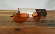 NEW Oliver Peoples Sunglasses Aero 57 Brad Pitt Fight Club Tyler Durden FC Orang