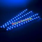 4x 15 SMD LEDs 30cm Car Auto Flexible Grill Light Lamp Strip Waterproof BLUE