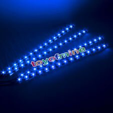 4X 15 Bar SMD LED 30cm Car Auto Flexible Grill Light Lamp Strip Waterproof Blue