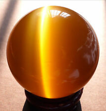 New 40MM + STAND Beautiful ASIAN QUARTZ TIGER EYE CRYSTAL HEALING BALL SPHERE