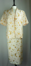 ��. Roman Size 20 22 Dress and Jacket Suit Yellow Floral Wedding