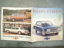 1982 CHEVROLET MALIBU CLASSIC BROCHURE   see another listing also