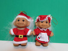 "CHRISTMAS SANTA & MRS CLAUS - 3"" Russ Trolls - NEW"