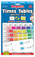 NEW Magnetic Maths chart - Times Tables  - learn tables 1 to 12 - Fiesta Crafts