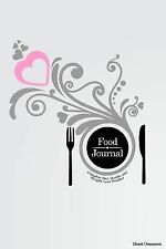 Food Journal: Complete Diet, Health, and Weight Loss Tracker - Heart Ornament...