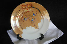 Vintage Collector Lustreware Plate Hand Painted Made In Japan Birds Flowers