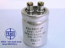 3300uF -63V FRAKO EKBJ-Series LL Ultra Hi-End Audio Grade Capacitor  x 4 PIECES