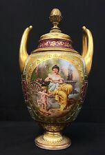 Original Antique Royal Vienna Porcelain Vase Hand-Painted By Wagner Near Mint