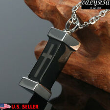 Tombstone Cross Coffin Cremation Jewelry Memorial Pendant Keepsake Urn Necklace