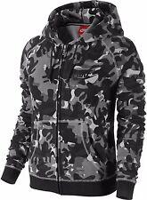 Nike Sportswear Rally Full-Zip Hoody AOP Black Women's Large Camo 678846 010